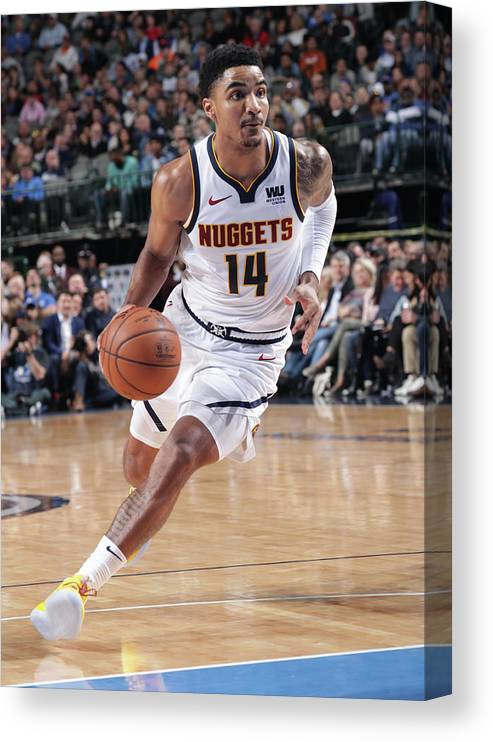 Nba Pro Basketball Canvas Print featuring the photograph Gary Harris by Glenn James