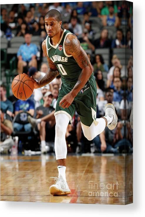 Nba Pro Basketball Canvas Print featuring the photograph Gary Payton by Glenn James