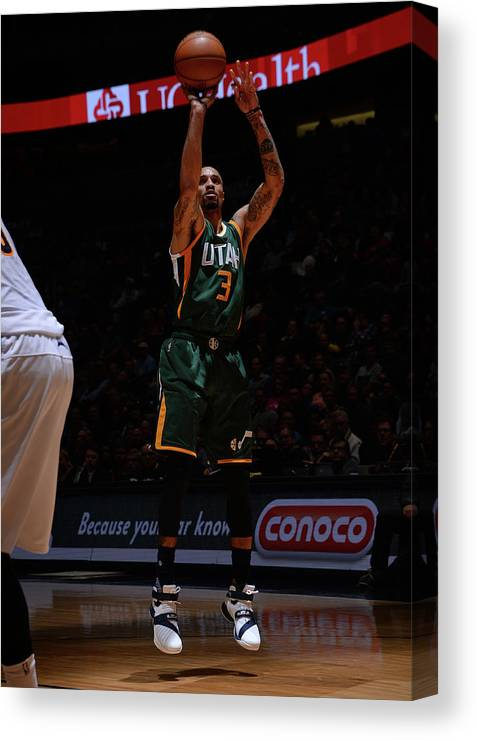 Nba Pro Basketball Canvas Print featuring the photograph George Hill by Bart Young