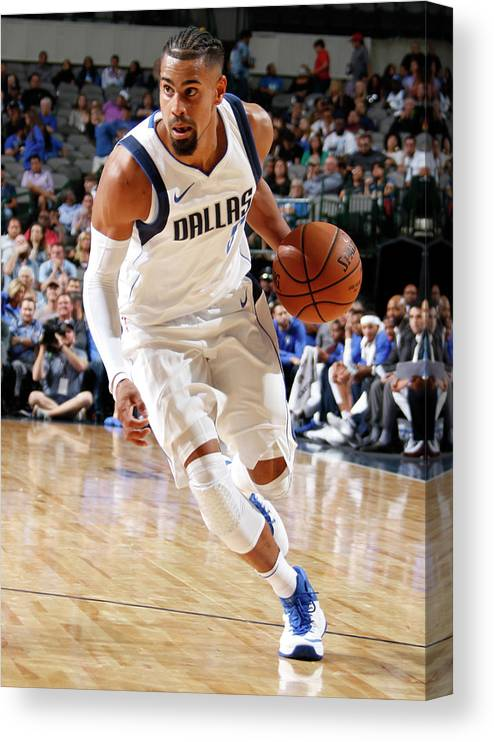 Nba Pro Basketball Canvas Print featuring the photograph Gian Clavell by Danny Bollinger