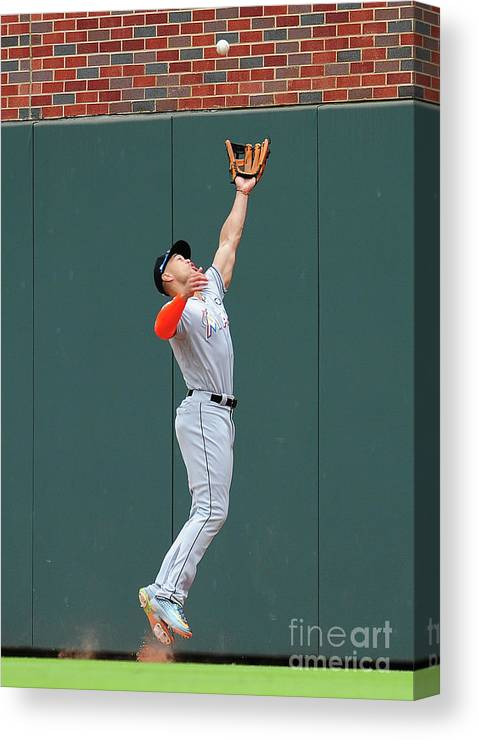 Atlanta Canvas Print featuring the photograph Giancarlo Stanton by Scott Cunningham