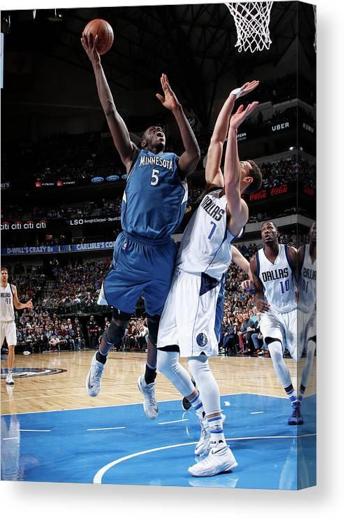 Nba Pro Basketball Canvas Print featuring the photograph Gorgui Dieng by Glenn James