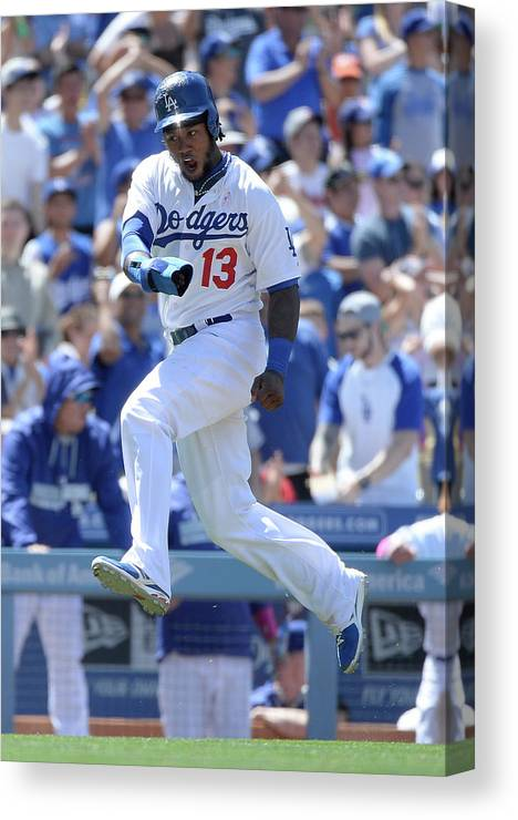 American League Baseball Canvas Print featuring the photograph Hanley Ramirez and Adrian Gonzalez by Harry How