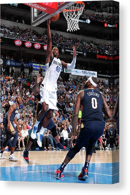 Nba Pro Basketball Canvas Print featuring the photograph Harrison Barnes by Glenn James