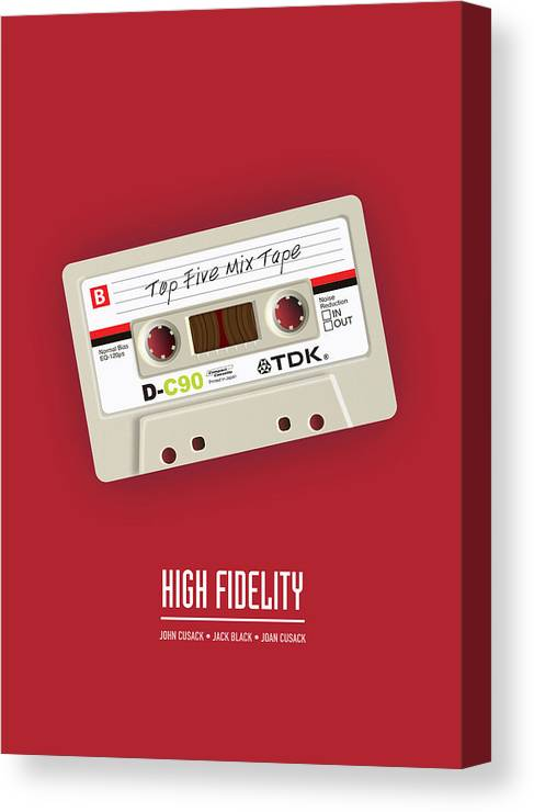 High Fidelity Canvas Print featuring the digital art High Fidelity - Alternative Movie Poster by Movie Poster Boy