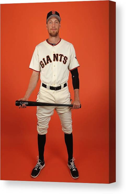 Media Day Canvas Print featuring the photograph Hunter Pence by Christian Petersen