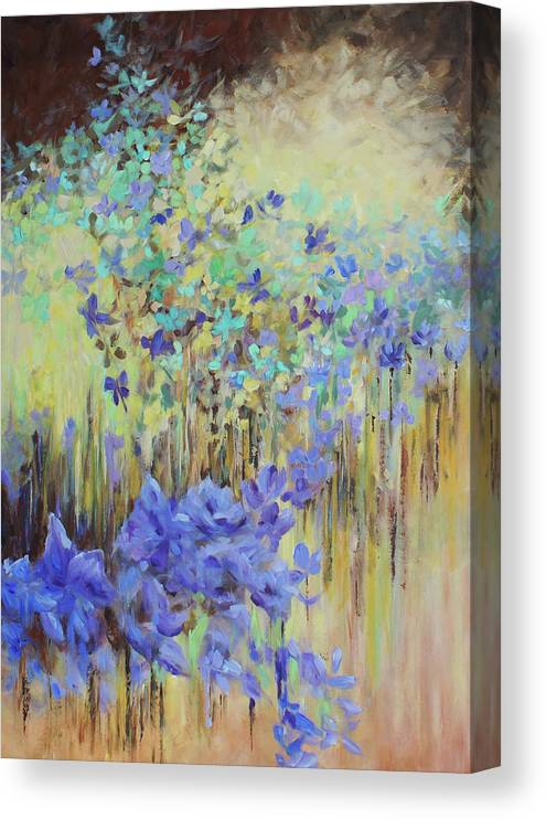 Iris Canvas Print featuring the painting In Flight by Joanne Smoley