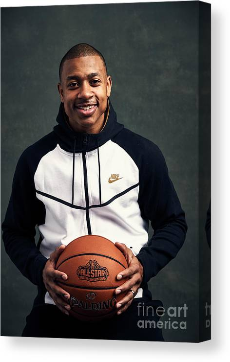 Event Canvas Print featuring the photograph Isaiah Thomas by Jennifer Pottheiser