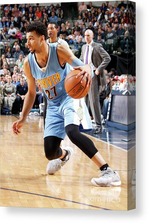 Nba Pro Basketball Canvas Print featuring the photograph Jamal Murray by Danny Bollinger