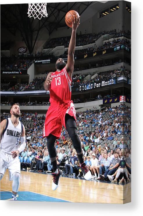 Nba Pro Basketball Canvas Print featuring the photograph James Harden by Glenn James