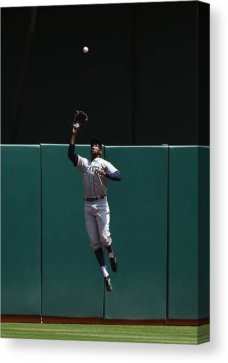 People Canvas Print featuring the photograph James Jones and Josh Donaldson by Thearon W. Henderson