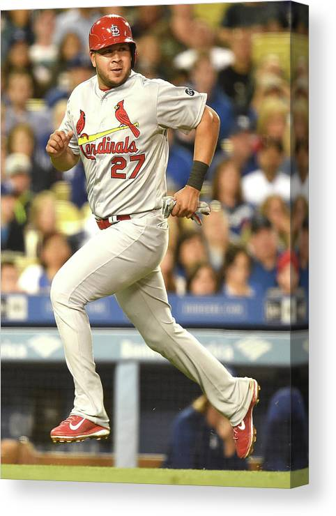 St. Louis Cardinals Canvas Print featuring the photograph Jhonny Peralta and Jason Heyward by Harry How