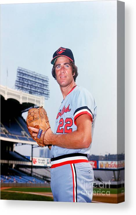 People Canvas Print featuring the photograph Jim Palmer by Lou Requena