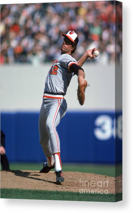 American League Baseball Canvas Print featuring the photograph Jim York by Rich Pilling