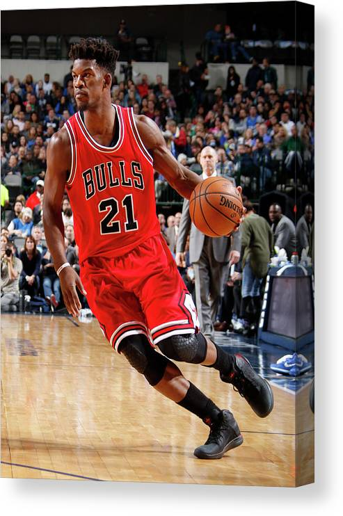 Nba Pro Basketball Canvas Print featuring the photograph Jimmy Butler by Danny Bollinger
