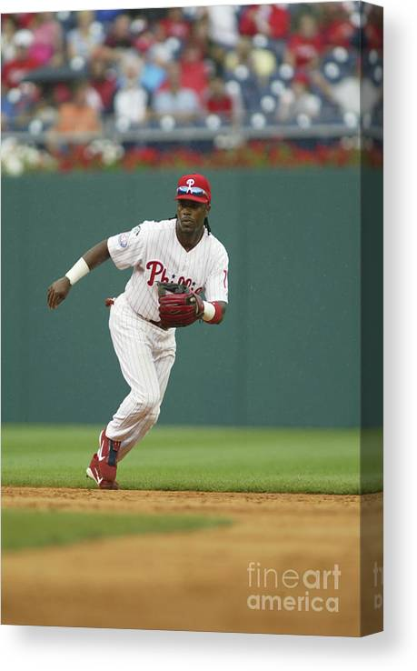 Sports Ball Canvas Print featuring the photograph Jimmy Rollins by Rob Leiter