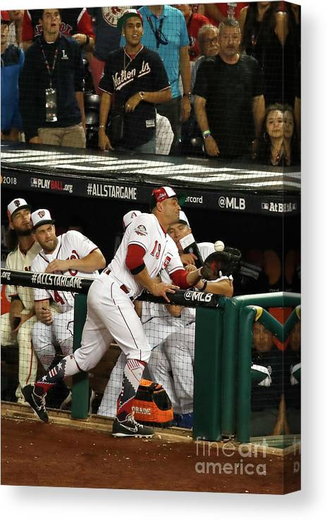 People Canvas Print featuring the photograph Joey Votto by Patrick Mcdermott