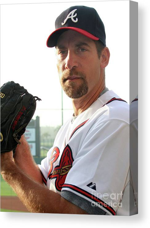 Media Day Canvas Print featuring the photograph John Smoltz by Icon Sports Wire