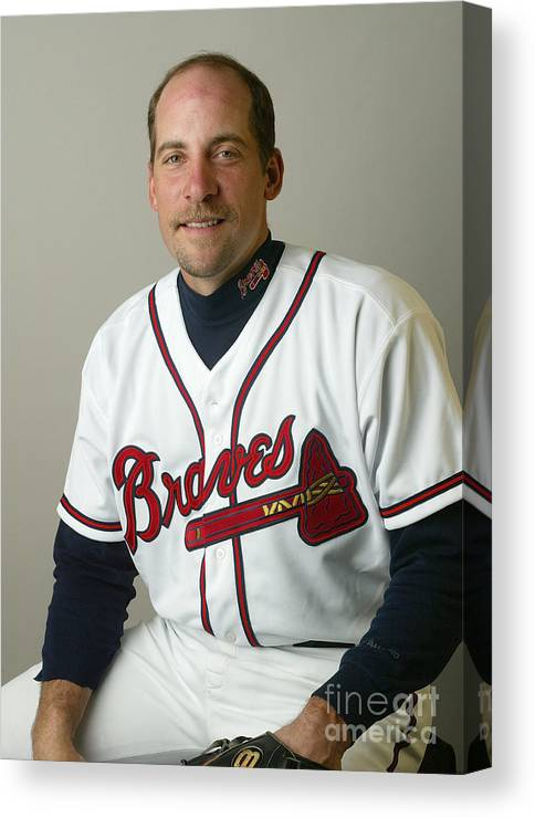 Media Day Canvas Print featuring the photograph John Smoltz by Rick Stewart