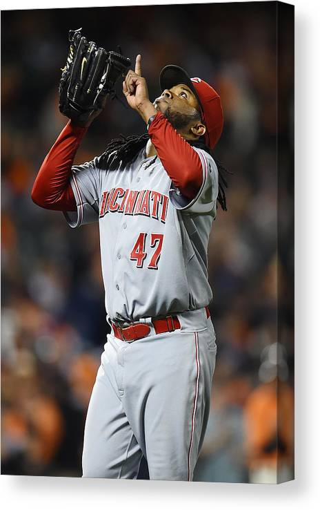 San Francisco Canvas Print featuring the photograph Johnny Cueto by Thearon W. Henderson