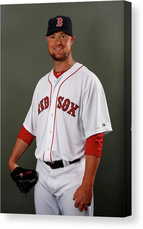 Jon Lester Canvas Print featuring the photograph Jon Lester by Elsa