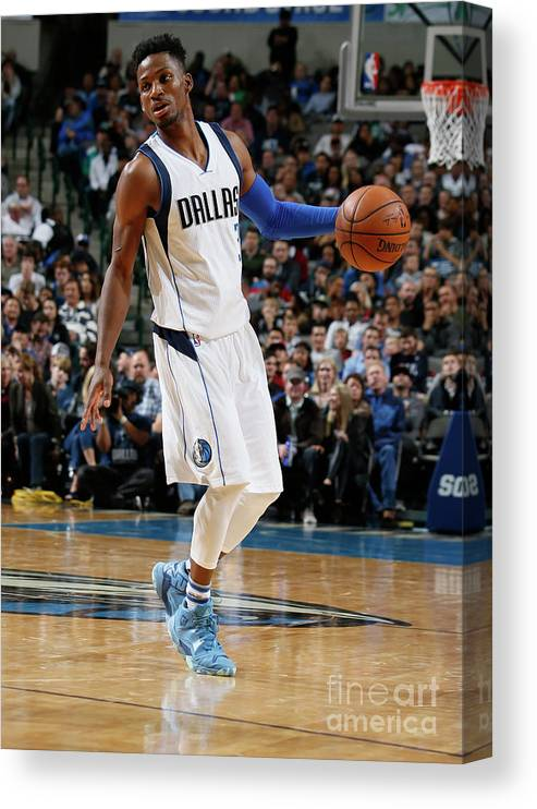 Nba Pro Basketball Canvas Print featuring the photograph Jonathan Gibson by Danny Bollinger