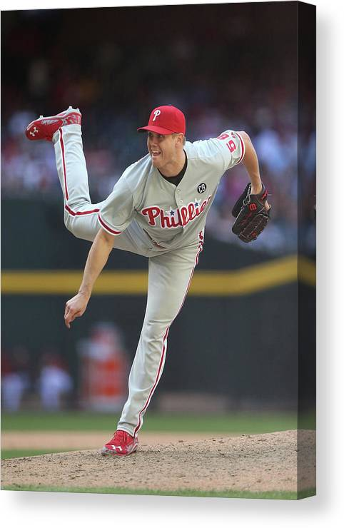 Relief Pitcher Canvas Print featuring the photograph Jonathan Papelbon by Christian Petersen