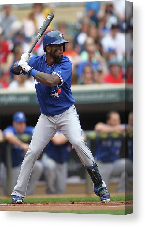 American League Baseball Canvas Print featuring the photograph Jose Reyes by Andy King