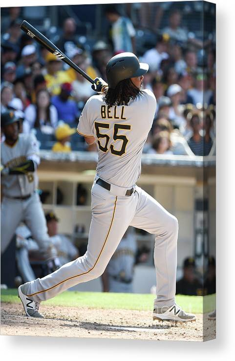 Ninth Inning Canvas Print featuring the photograph Josh Bell by Denis Poroy
