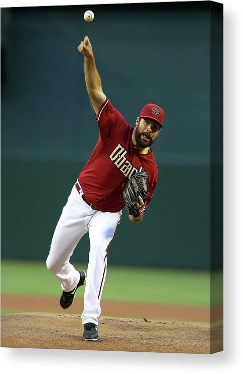 Baseball Pitcher Canvas Print featuring the photograph Josh Fields by Christian Petersen