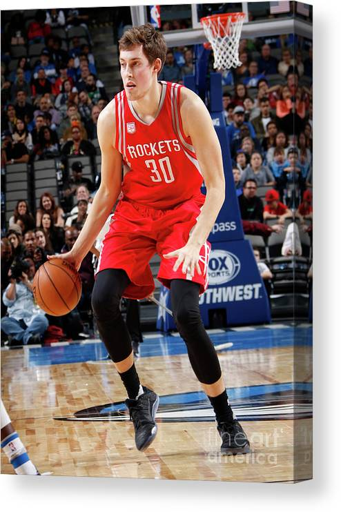 Nba Pro Basketball Canvas Print featuring the photograph Kyle Wiltjer by Glenn James