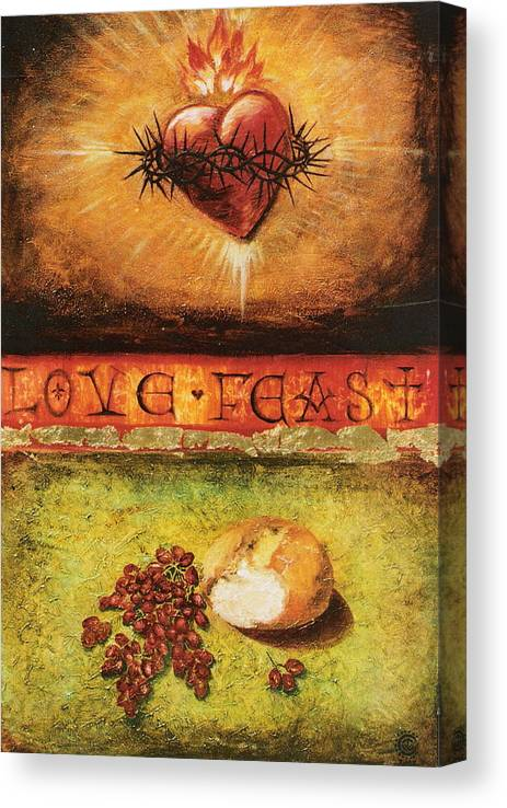 Love Feast Canvas Print featuring the painting Love Feast by Teresa Carter