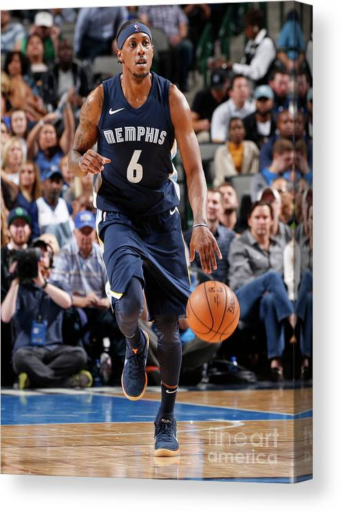 Nba Pro Basketball Canvas Print featuring the photograph Mario Chalmers by Glenn James