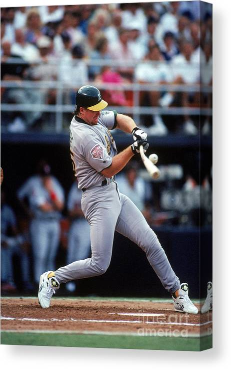 All Star Game Canvas Print featuring the photograph Mark Mcgwire by Ron Vesely