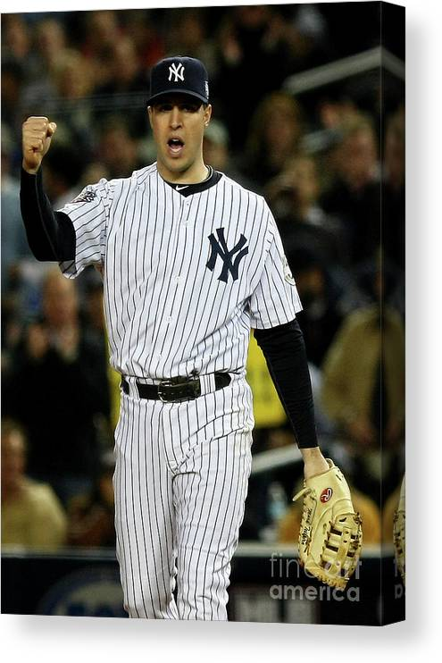 Game Two Canvas Print featuring the photograph Mark Teixeira by Chris Mcgrath