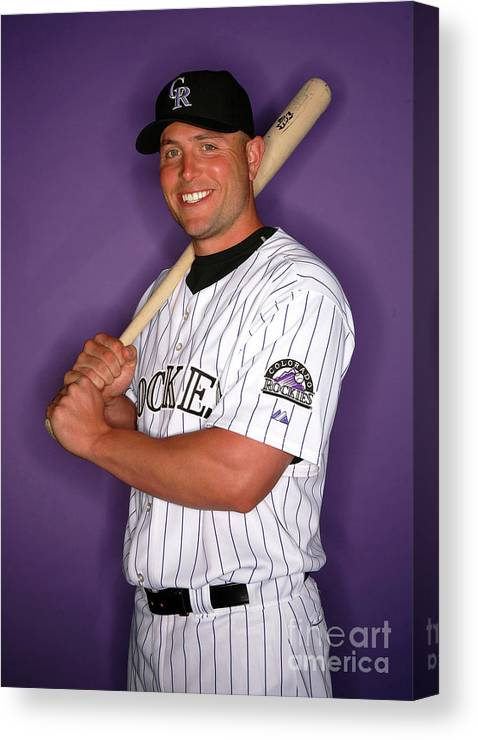 Media Day Canvas Print featuring the photograph Matt Holliday by Jeff Gross