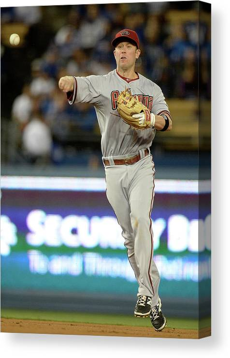 Second Inning Canvas Print featuring the photograph Matt Kemp and Aaron Hill by Harry How
