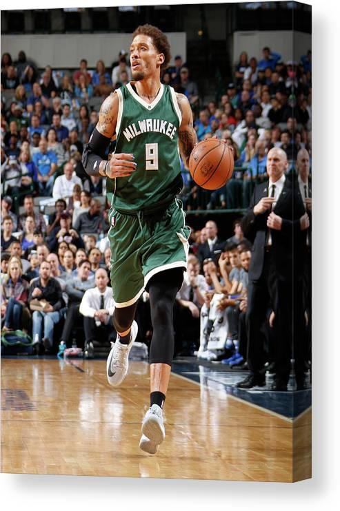 Michael Beasley Canvas Print featuring the photograph Michael Beasley by Danny Bollinger