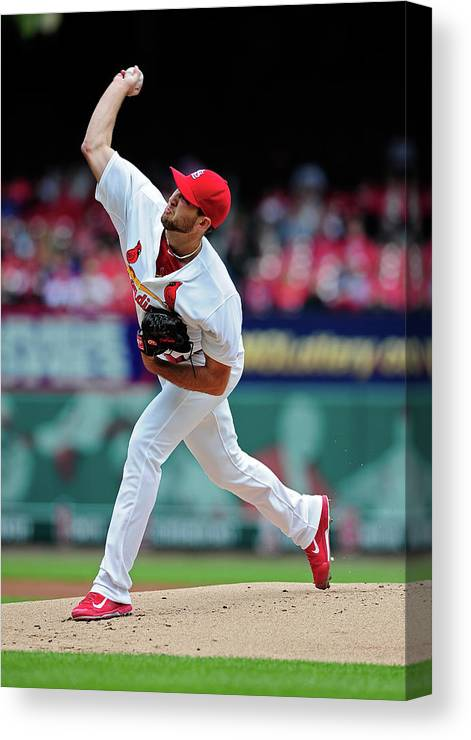 St. Louis Cardinals Canvas Print featuring the photograph Michael Wacha by Jeff Curry
