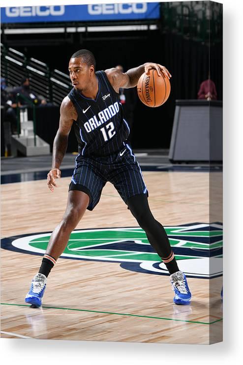 Nba Pro Basketball Canvas Print featuring the photograph Orlando Magic v Dallas Mavericks by Glenn James