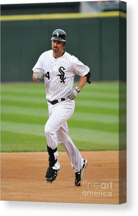People Canvas Print featuring the photograph Paul Konerko by Brian Kersey