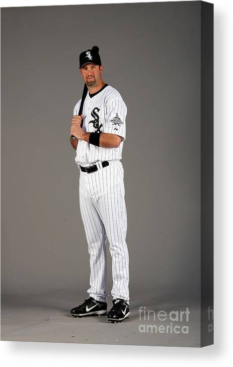 Media Day Canvas Print featuring the photograph Paul Konerko by Otto Greule Jr