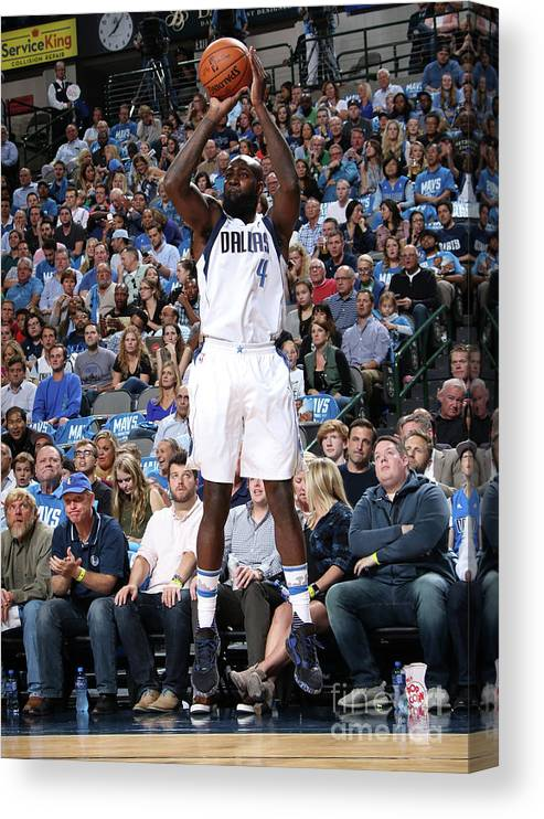 Nba Pro Basketball Canvas Print featuring the photograph Quincy Acy by Glenn James