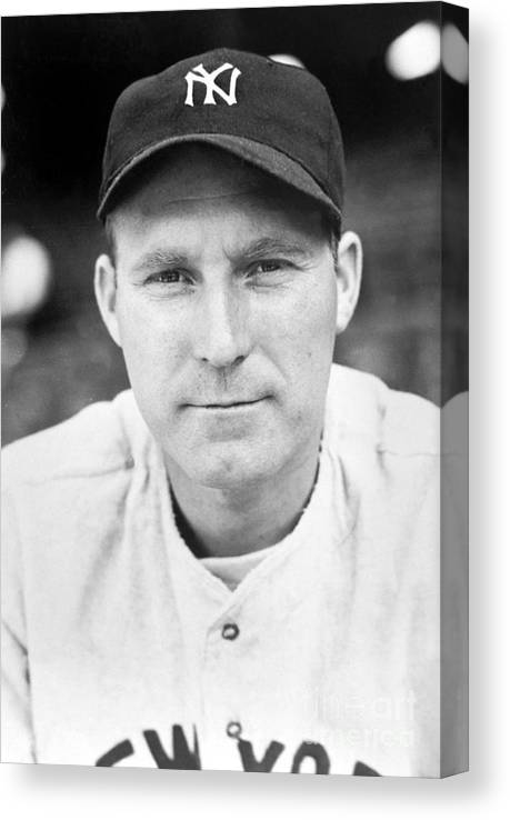 American League Baseball Canvas Print featuring the photograph Red Ruffing by National Baseball Hall Of Fame Library