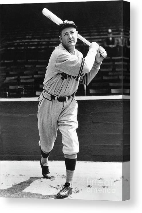 1910-1919 Canvas Print featuring the photograph Rogers Hornsby by National Baseball Hall Of Fame Library