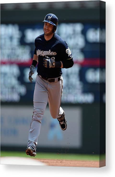 People Canvas Print featuring the photograph Ryan Braun by Hannah Foslien