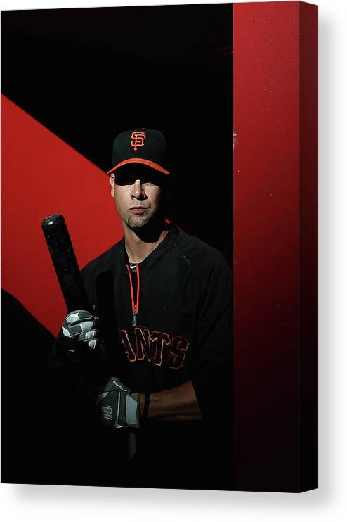 Ryan Vogelsong Canvas Print featuring the photograph Ryan Vogelsong by Christian Petersen