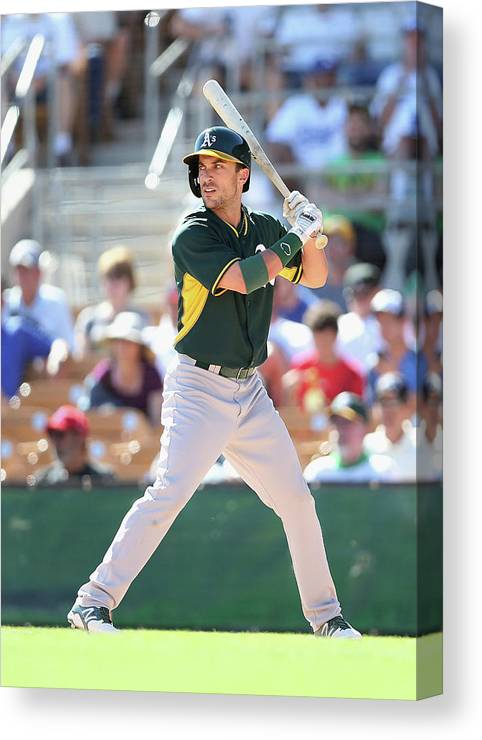 American League Baseball Canvas Print featuring the photograph Sam Fuld by Christian Petersen