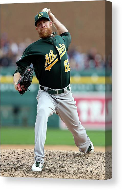 American League Baseball Canvas Print featuring the photograph Sean Doolittle by Leon Halip