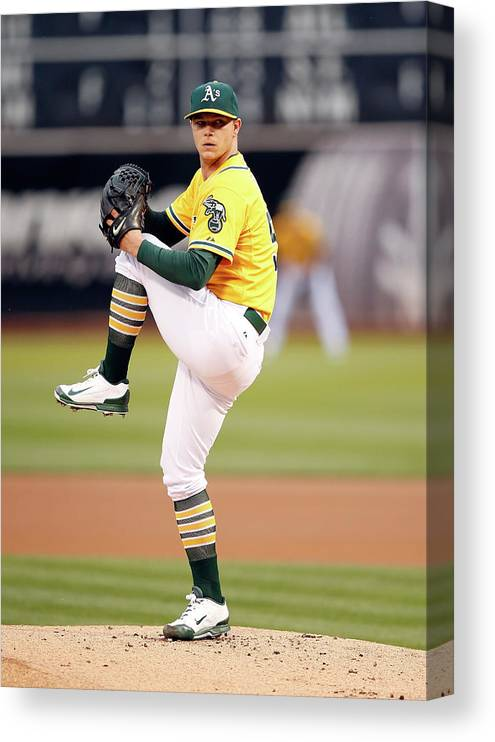 People Canvas Print featuring the photograph Sonny Gray by Ezra Shaw